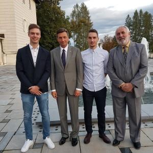 Sprejem pri predsedniku republike Slovenije in ministrici za šolstvo za diamantne maturante (vse točke na maturi)