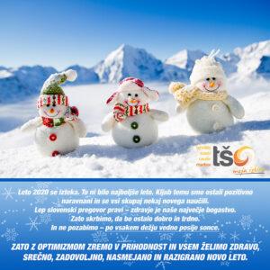 Novoletna čestitka vsem dijakom, študentom, partnerjem in celotnemu kolektivu TŠC Maribor